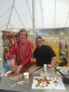 Ian Cummings (Bake-Off runner-up) and Ondine Hartgroves (ex Masterchef contestant)