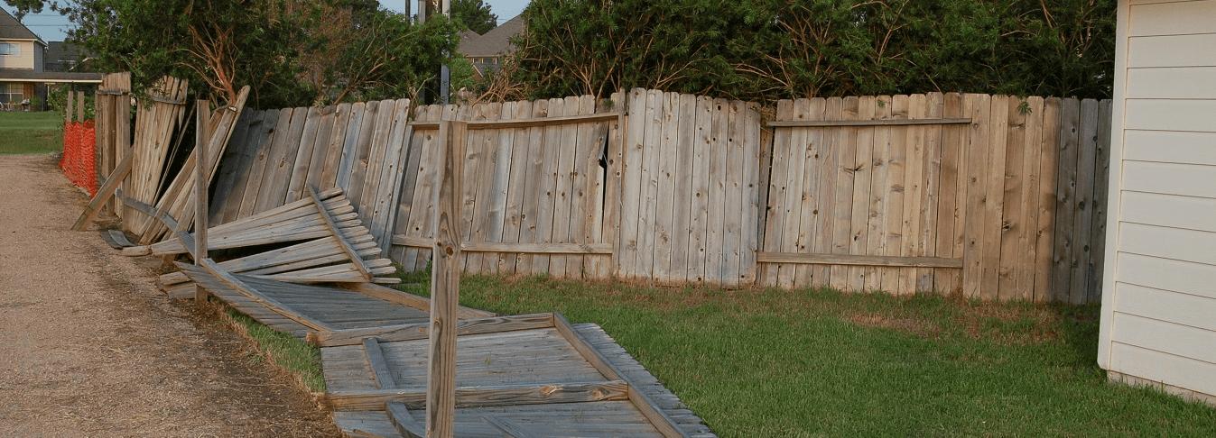 storm damage fence